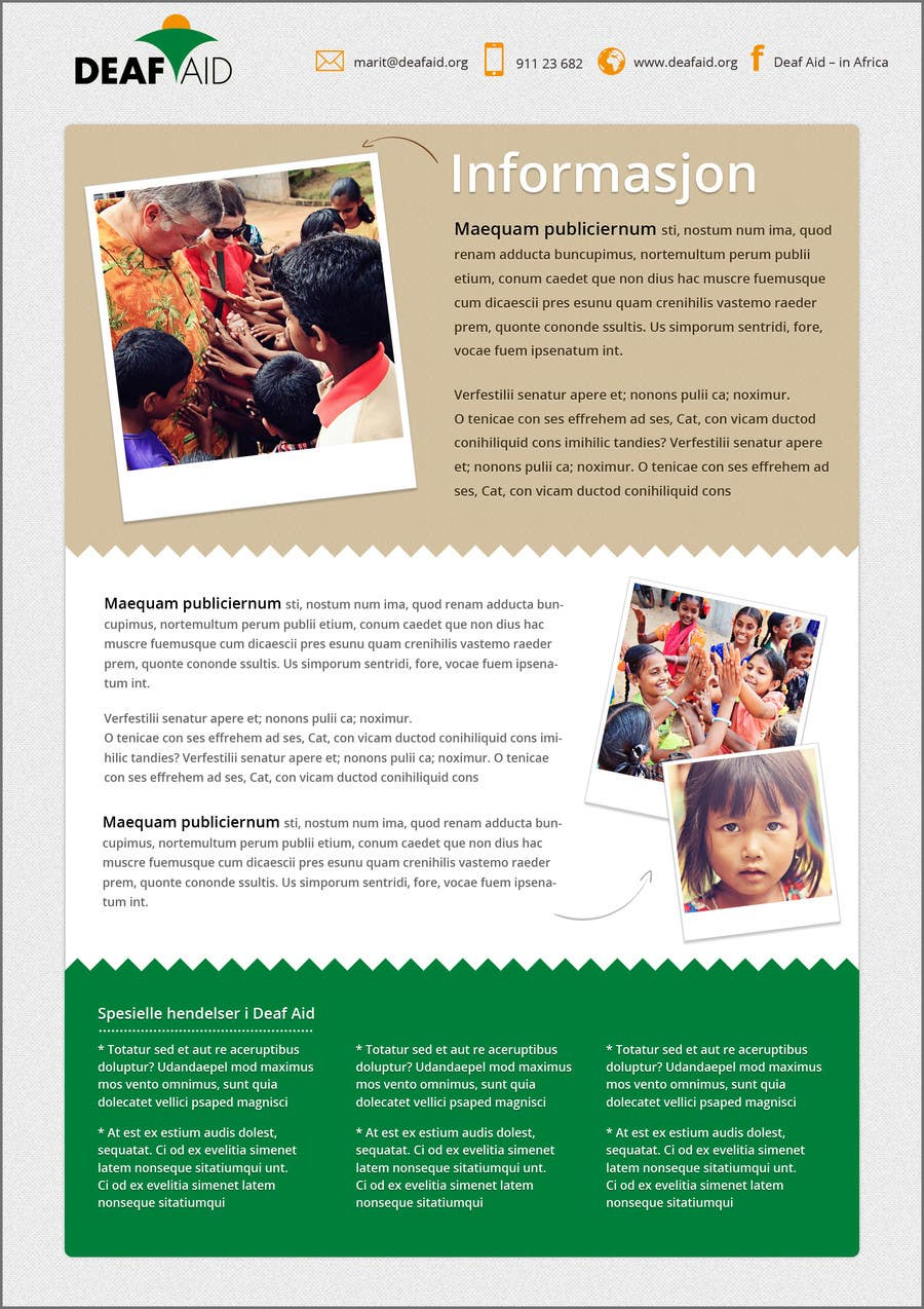 Penyertaan Peraduan #8 untuk Newsletter design for wed and for print