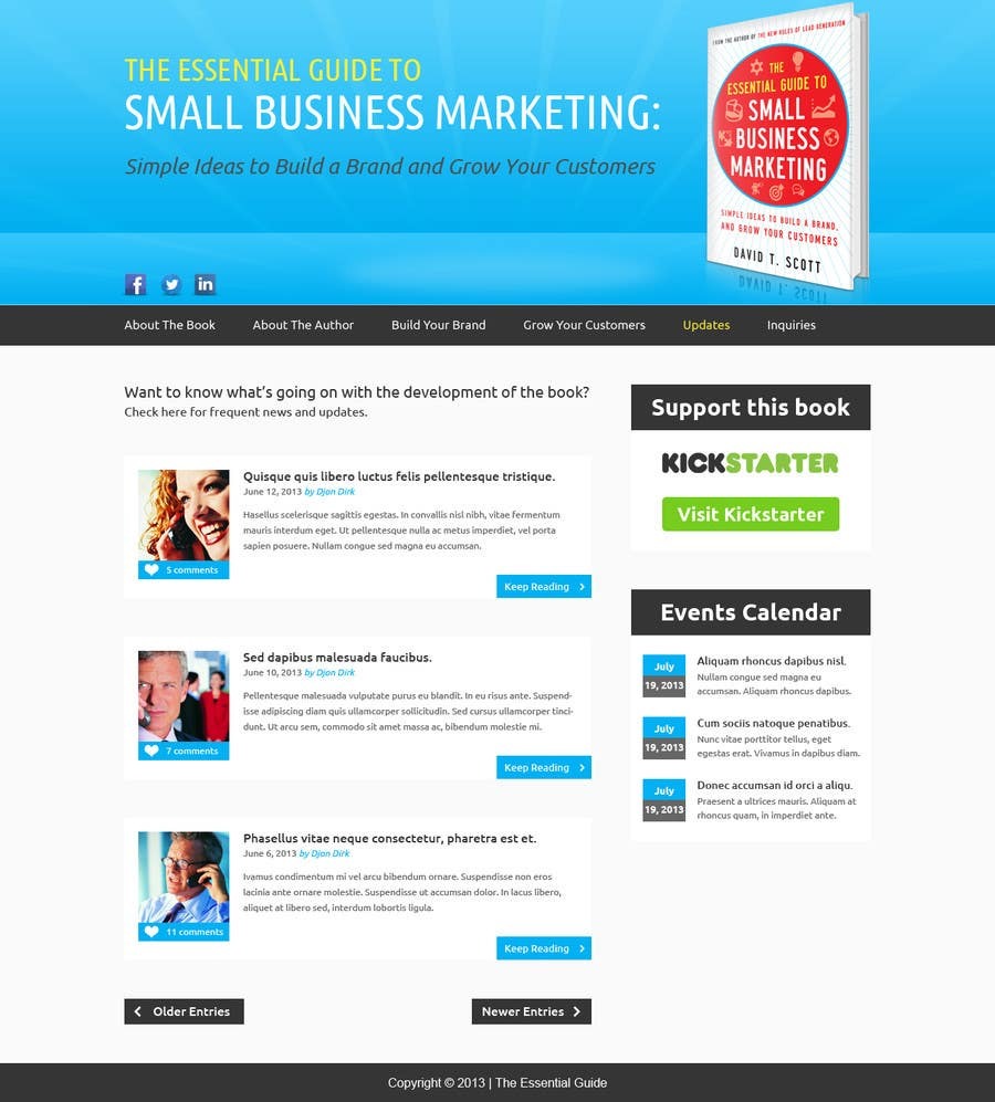 #12 for Build a Website for my new book! by BillWebStudio