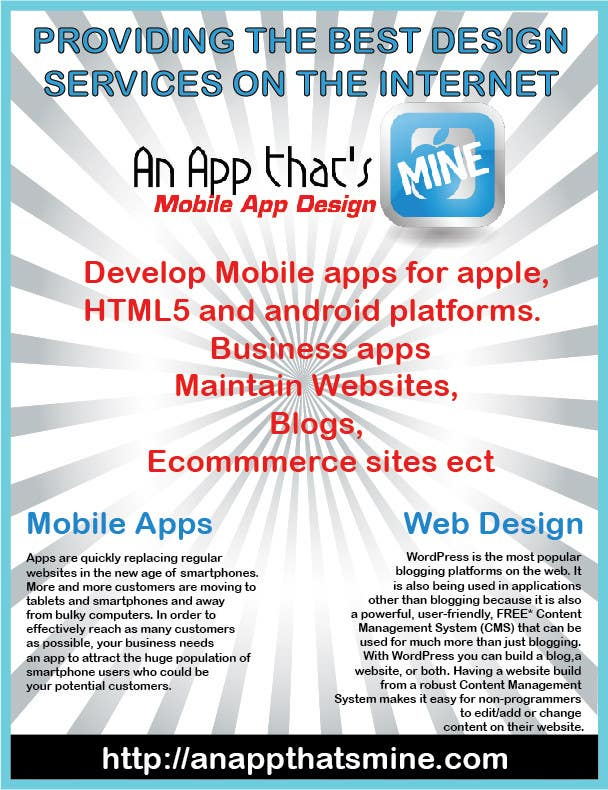 Photoshop Contest Entry #1 for Design a Flyer for Mobile App and Website Developer
