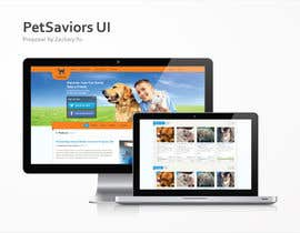 nº 34 pour Design an awesome Website mock-up for PetSaviors par zackaryyu