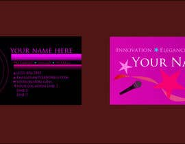 #14 for Design some Business Cards for an Artist who Sing, Dance, Act, Voice Over, Performing Art af uwaisasmal27