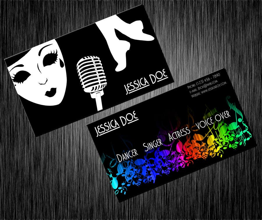 Konkurrenceindlæg #13 for Design some Business Cards for an Artist who Sing, Dance, Act, Voice Over, Performing Art