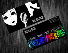 #13 for Design some Business Cards for an Artist who Sing, Dance, Act, Voice Over, Performing Art af hollyfisch