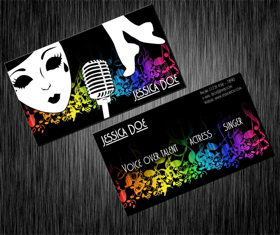 Konkurrenceindlæg #15 for Design some Business Cards for an Artist who Sing, Dance, Act, Voice Over, Performing Art