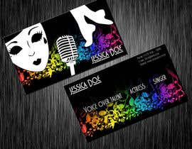 #15 para Design some Business Cards for an Artist who Sing, Dance, Act, Voice Over, Performing Art por hollyfisch