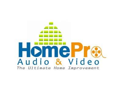 Kilpailutyö #341 kilpailussa Logo Design for HomePro Audio & Video