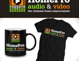 #207 pentru Logo Design for HomePro Audio & Video de către santarellid