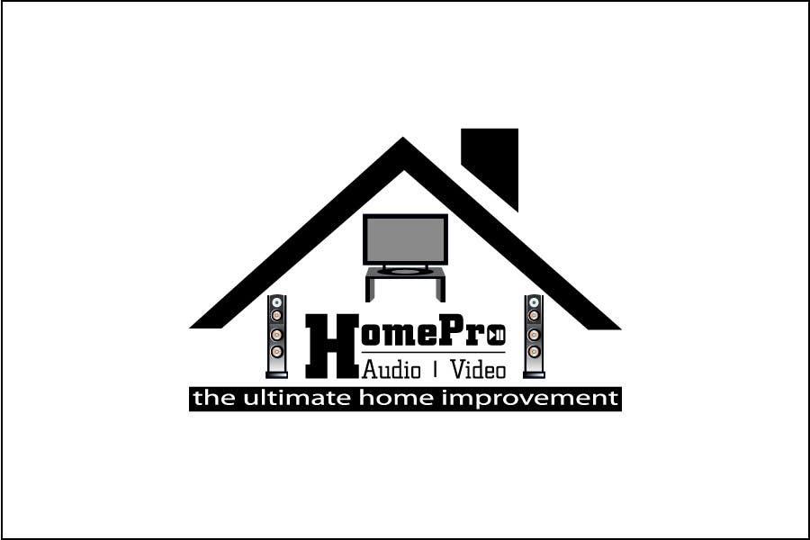Bài tham dự cuộc thi #                                        272                                      cho                                         Logo Design for HomePro Audio & Video