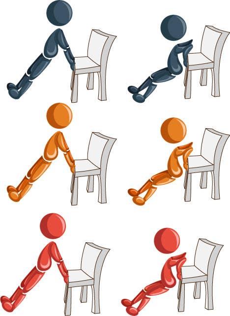 Inscrição nº                                         9                                      do Concurso para                                         stickman workout illustration design