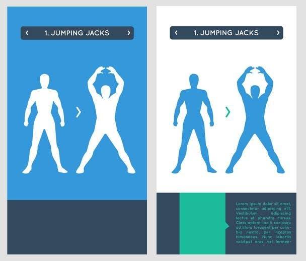 Inscrição nº                                         4                                      do Concurso para                                         stickman workout illustration design