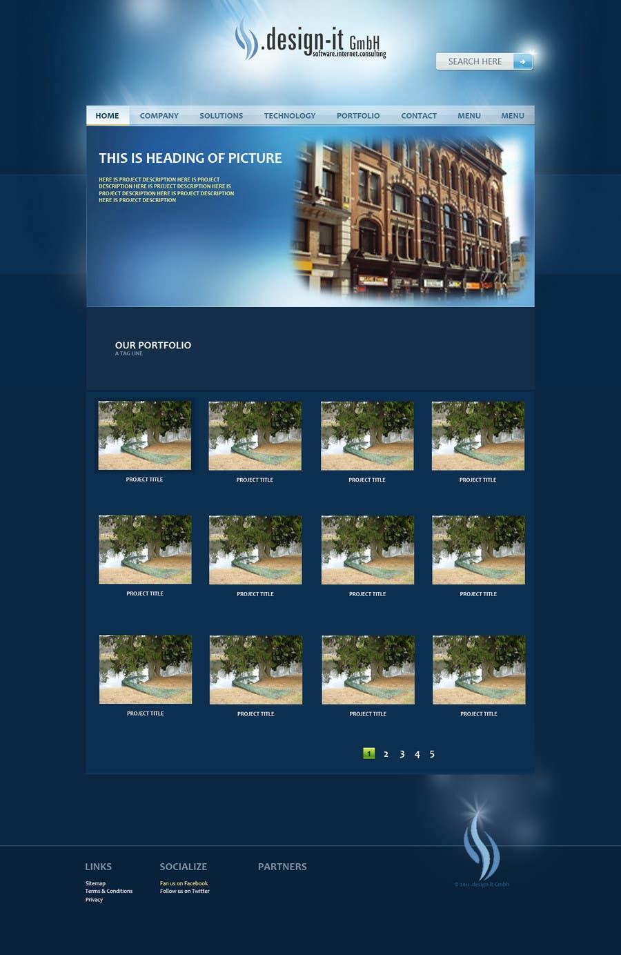 Конкурсная заявка №5 для Website Design for .design-it GmbH - software.internet.consulting