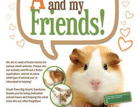 nº 23 pour Design a Flyer for a small animal rescue par janaseth1