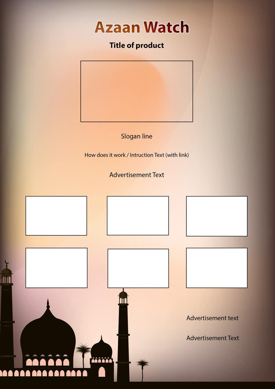 Bài tham dự cuộc thi #8 cho Design a Flyer for a High Quality Azan Watch