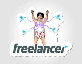 nº 97 pour Help the Freelancer design team design a new die cut sticker par pixelrover