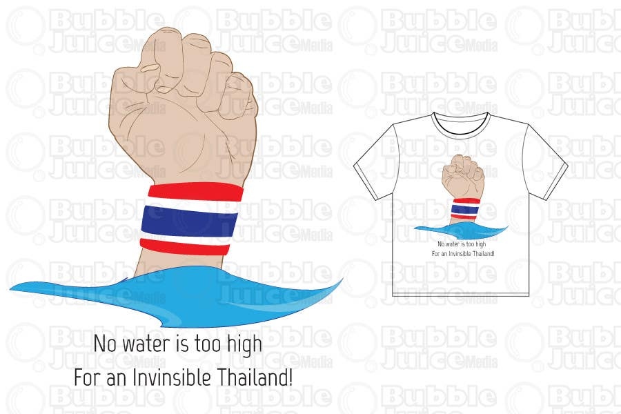 Contest Entry #                                        5                                      for                                         T-Shirt Design for Thai Flood Victims