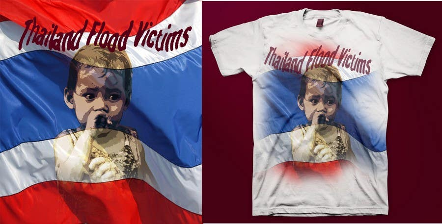 Participación en el concurso Nro.110 para T-Shirt Design for Thai Flood Victims