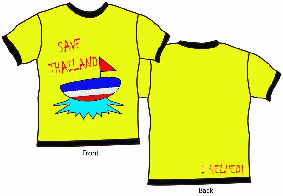 Inscrição nº 45 do Concurso para T-Shirt Design for Thai Flood Victims