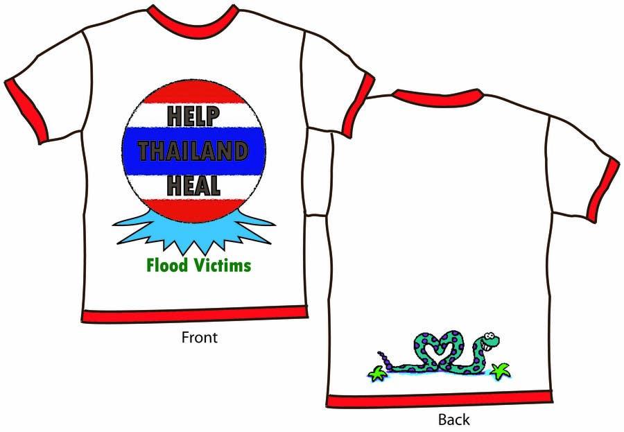 Participación en el concurso Nro.44 para T-Shirt Design for Thai Flood Victims