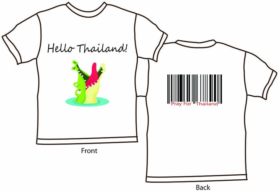 Participación en el concurso Nro.26 para T-Shirt Design for Thai Flood Victims