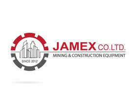 Nro 38 kilpailuun logo for jamex.co.jp a construction equipment exporter from tokyo käyttäjältä souamaria