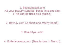 nº 53 pour Domain name for website selling Beauty products par hellokittyhanna