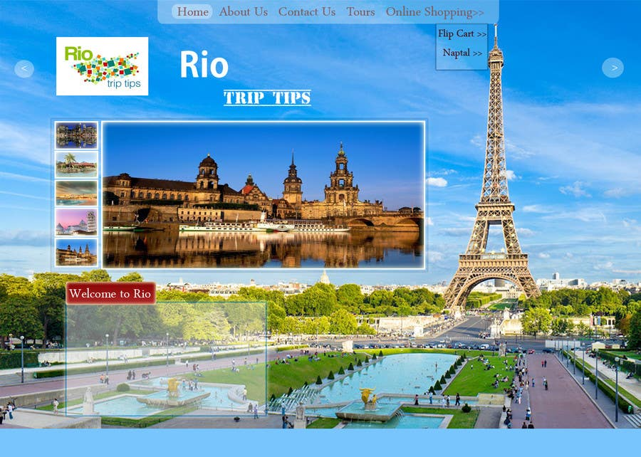 #11 for Create a Website Layout for a Tourism Company by acutegroups