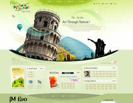 nº 12 pour Create a Website Layout for a Tourism Company par imeso