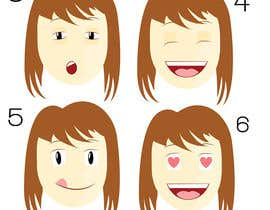 Nro 4 kilpailuun Illustrate 8 cartoon faces (of same character) with different facial expressions käyttäjältä SerMigo