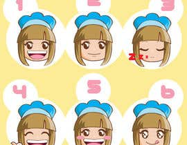 sophialotus tarafından Illustrate 8 cartoon faces (of same character) with different facial expressions için no 1