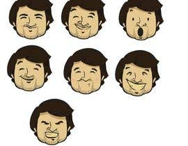 Nro 2 kilpailuun Illustrate 8 cartoon faces (of same character) with different facial expressions käyttäjältä stefaniasottile