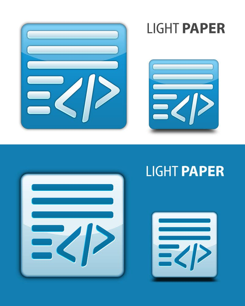 #86 for Design a Logo for LightPaper app by suneshthakkar
