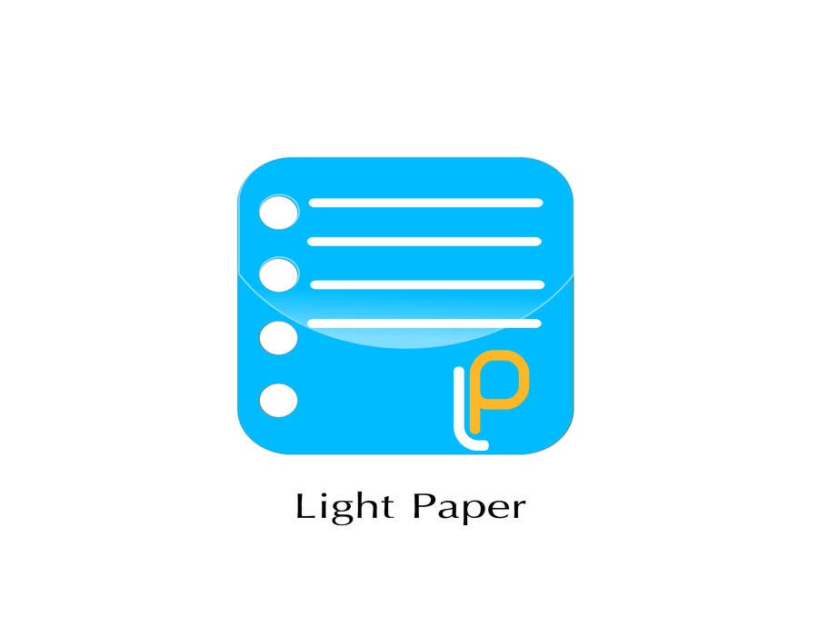 #85 for Design a Logo for LightPaper app by remixofrocks
