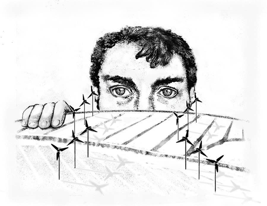 Penyertaan Peraduan #93 untuk Illustrate a giant peaking over a hill