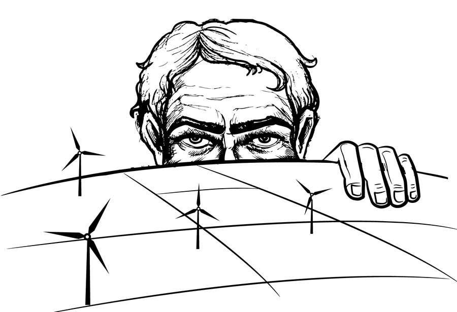 Penyertaan Peraduan #75 untuk Illustrate a giant peaking over a hill