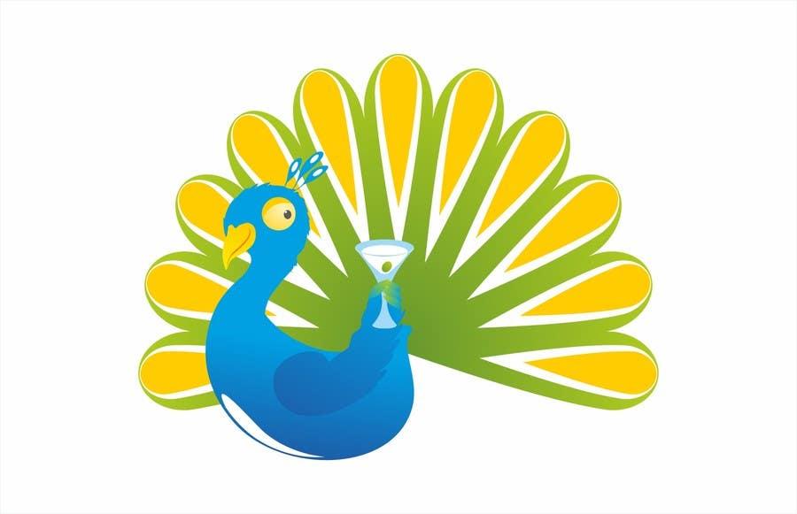 Proposition n°7 du concours Boozy Peacock Mascot Design