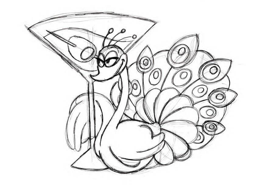 Bài tham dự cuộc thi #13 cho Boozy Peacock Mascot Design
