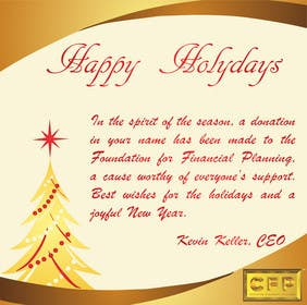 #22 para Graphic Design for A new holiday card project for the CFP Board por b0bby123