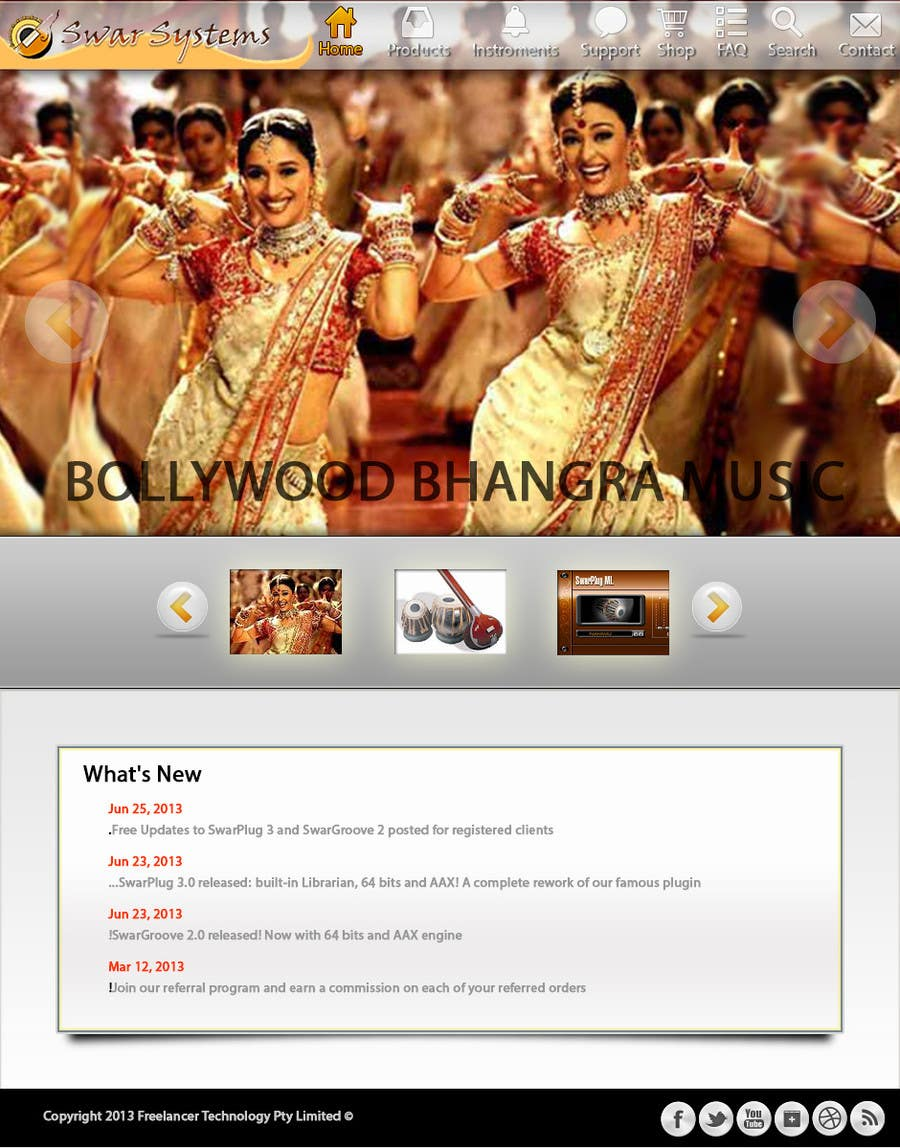 #7 for Revamp a web site by sanart