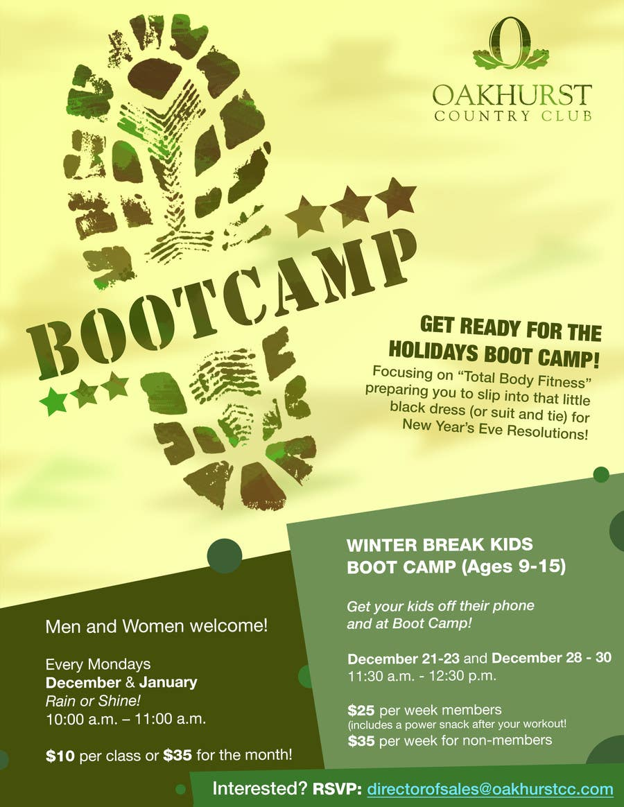Entry #11 by luckytagata for Design a Poster - Boot Camp ...