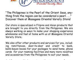nº 12 pour Write a tag line/slogan and content for a Specialist Philippine Grocery Store par JosephMarinas