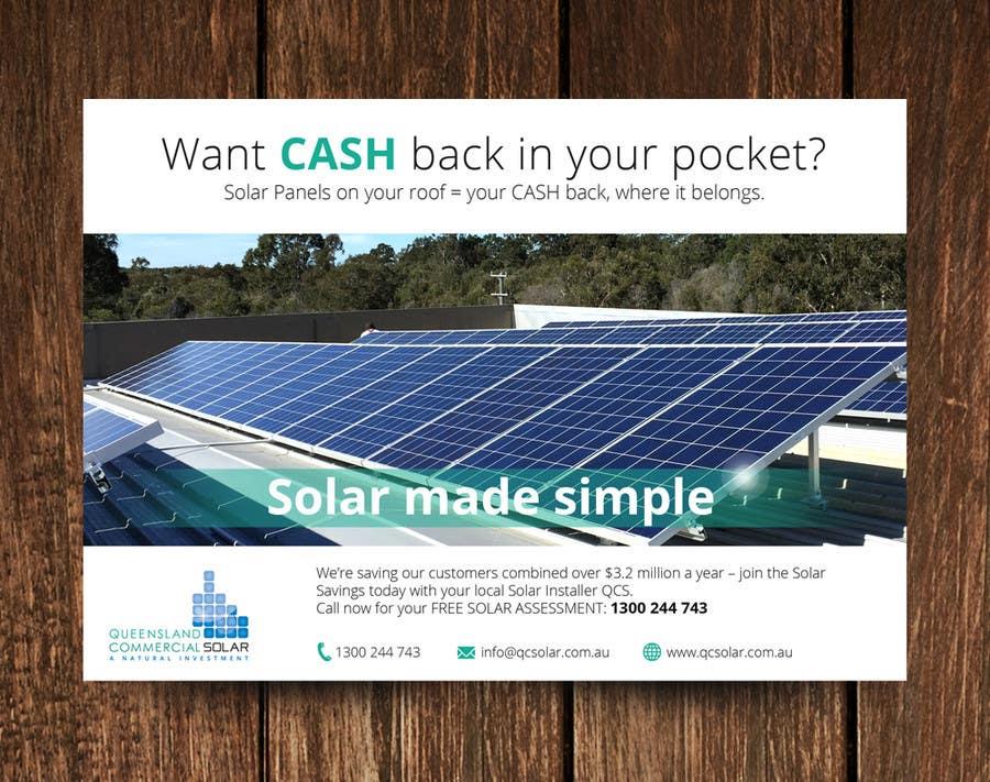 Penyertaan Peraduan #9 untuk Design an Advertisement package for Australian Solar Business