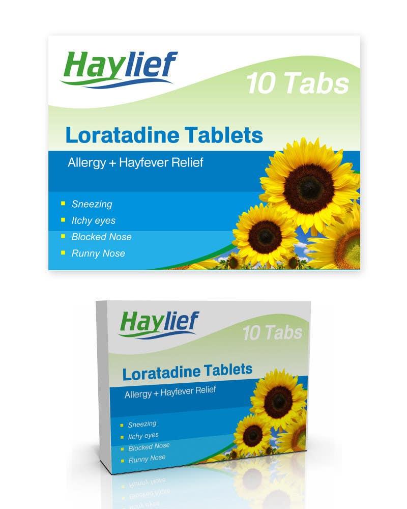 "Penyertaan Peraduan #40 untuk Design a Logo for New Hayfever Tablet Box called ""Haylief"""