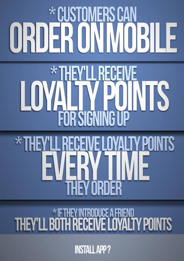 Penyertaan Peraduan #16 untuk Design a promotional poster for a mobile app and loyalty programme