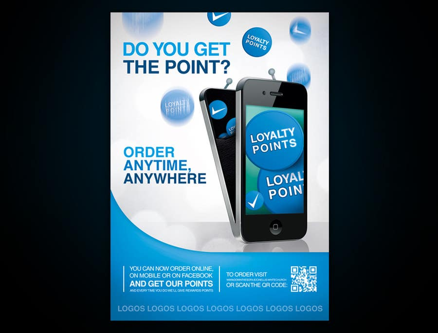 Design A Promotional Poster For A Mobile App And Loyalty