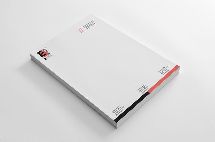 #33 for Design of the letterhead for a construction company by HammyHS