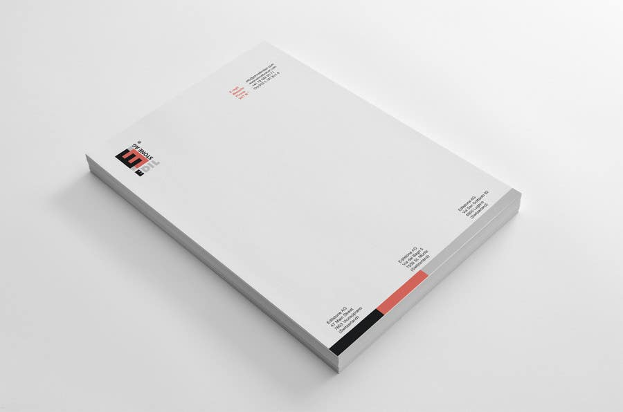 #34 for Design of the letterhead for a construction company by HammyHS