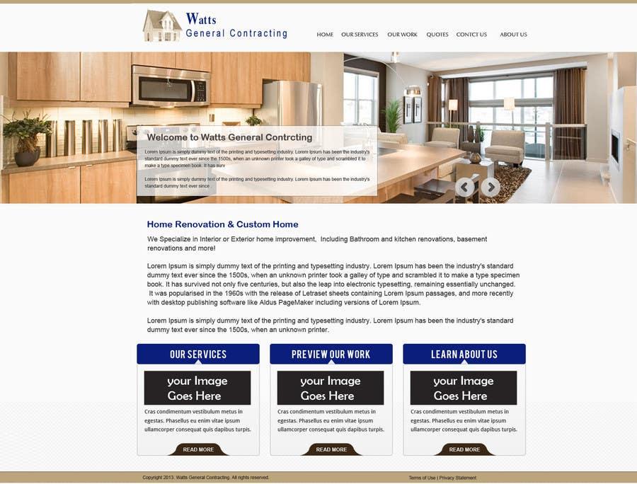 Kilpailutyö #14 kilpailussa Design a Website Mockup for Western/Cowboy sports med - AND - Renovations