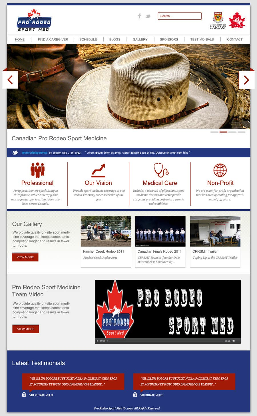 Kilpailutyö #21 kilpailussa Design a Website Mockup for Western/Cowboy sports med - AND - Renovations