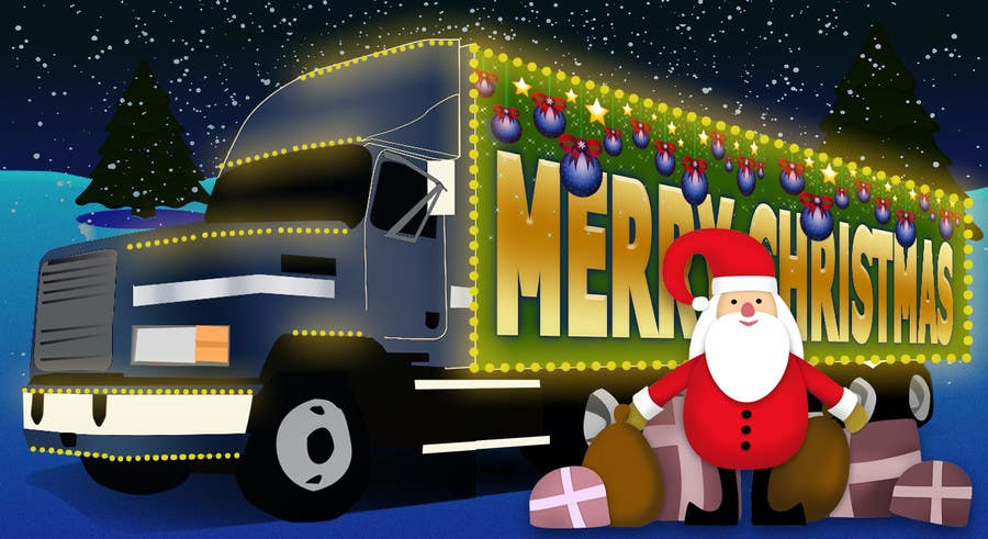Entry 17 By Tommy50 For Trucking Pany Christmas Card Freelancer