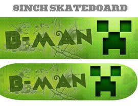 #31 para I need some Graphic Design for Son Custom made Skatebaord por Zeshu2011